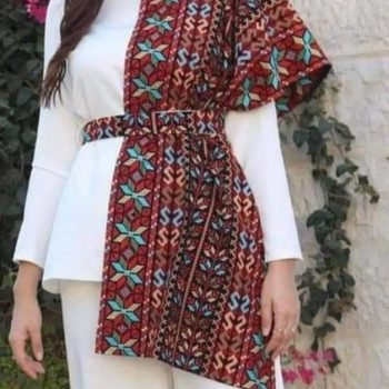Hand embroidery shawl